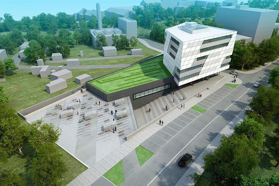 Neubau kmac f r die fh aachen for Architektur aachen